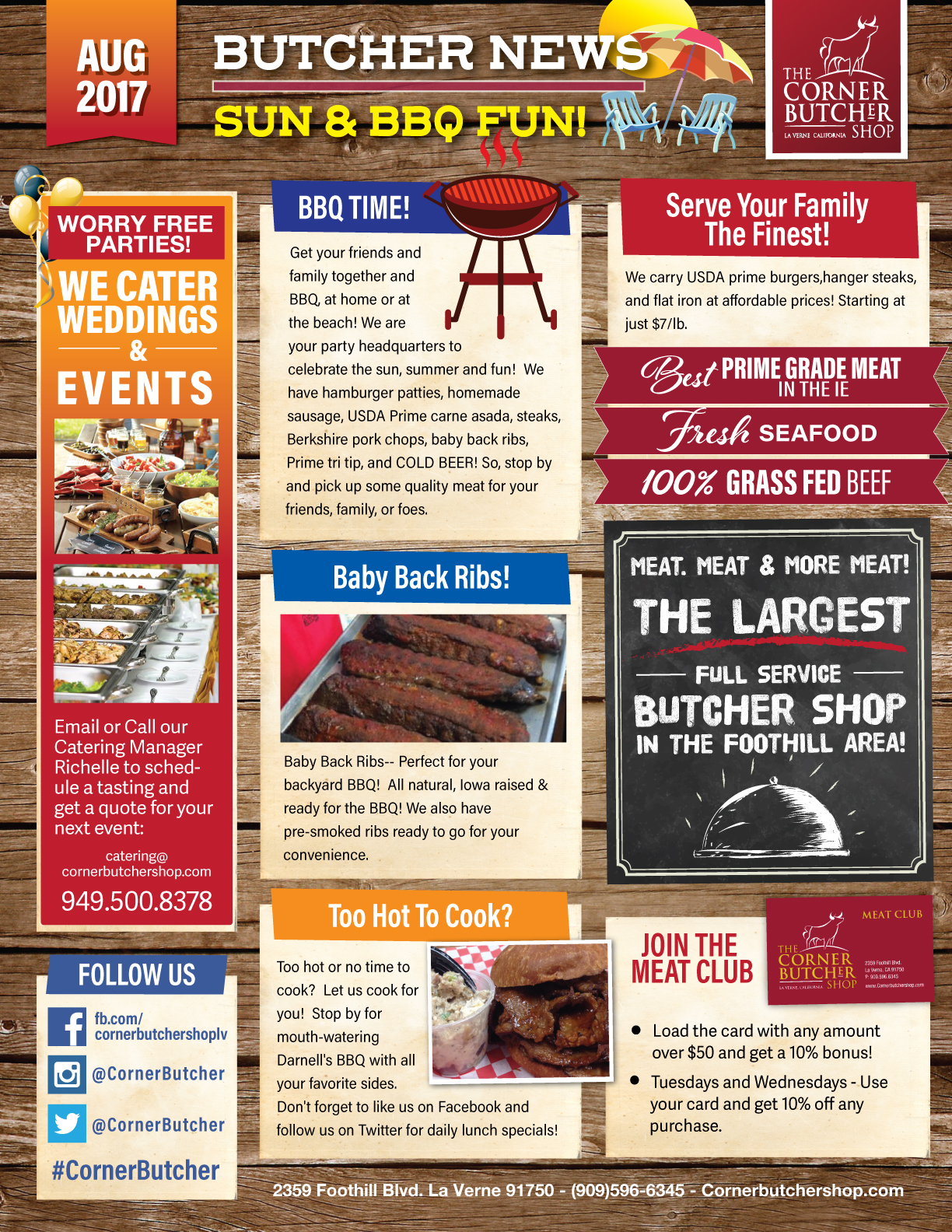 the corner butcher shop local loyalty rewards inland empire 39 s source for local coupons and. Black Bedroom Furniture Sets. Home Design Ideas